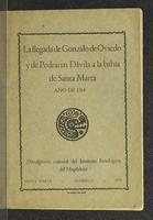 Llegada de Gonzalo y de Pedrarias Dávila a la bahía de Santa Marta. Año 1514 (1950)