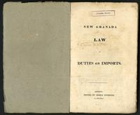 New Granada law of duties on imports (1834)