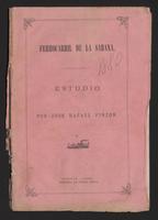 Ferrocarril de la Sabana estudio por José Rafael Pinzón (1880)