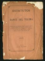 Estatutos de Banco del Tolima (1881)