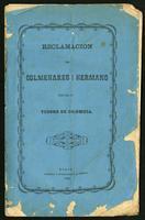 Reclamacion de Colmenáres i hermano contra el tesoro de Colombia (1869)