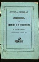Cuenta general y estadística del Camino de Occidente del Estado de Cundinamarca correspondiente al año 1874 (1875)