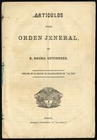 Artículos sobre orden jeneral de R. Rocha Gutíerrez (1869)