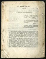 La emancipación de la Iglesia Neogranadina demostrada por la filosofía, la historia i el evangelio (1852)