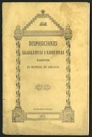 Disposiciones lejislativas i ejecutivas vijentes en materia de aduanas, desde el 1.o de noviembre de 1853 en adelante. Edicion oficial (1853)