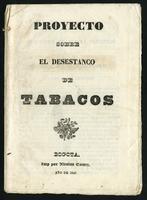 Proyecto sobre el desestanco de tabacos (1843)