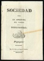 Sociedad para la apertura del Camino de Buenaventura (1836)