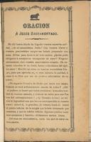 Oración a Jesús Sacramentado. (1875)