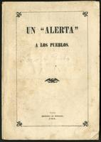 """Un """"alerta"""" a los pueblos (1865)"""