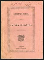 Constitución política para el Estado de Boyacá (1857)
