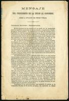 Mensaje del presidente de la unión al congreso (1878)