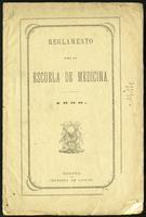 Reglamento para la escuela de medicina (1866)