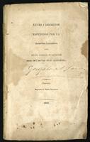 Leyes i decretos espedidos por la Asamblea Legislativa del Estado Soberano de Santander en el año de 1864 (1865)