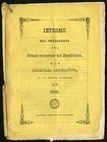 Informe del Presidente del Estado Soberano del Magdalena, a la Asamblea Legislativa en sus sesiones ordinarias de 1868 (1868)