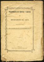 Presupuesto de rentas y gastos del Departamento del Cauca para el periodo fiscal del 1o de Enero de 1899 a 31 de Diciembre de 1900 (1898)