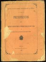 Presupuestos de rentas y gastos para el periodo fiscal de 1895 y 1896 (1894)