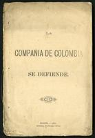 La Compañía de Colombia se defiende (1879)