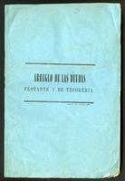 Arreglo de las deudas flotante i de tesorería (1856)