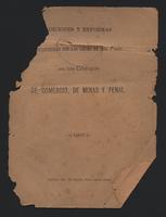 Adiciones y reformas introducidas en 1886-1887 en los códigos de comercio, de minas y penal (1887)