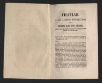 Circular a los ajentes diplómaticos i a los consules de la Nueva Granada sobre los últimos acontecimientos políticos y otros puntos que los explican (1851)