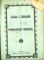Manifiesto de Ayala I Medrano I la cuestión bonos (1865)