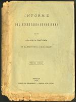 Informe del Secretario de Gobierno relativo a la visita practicada en al provincial de Marmato (1896)