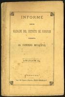 Informe que el Alcalde del distrito de Popayán presenta al Concejo Municipal (1894)