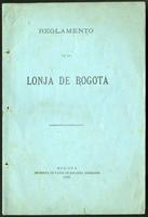 Reglamento de la Lonja de Bogotá (1884)
