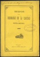 Recepción de las Hermanas de la Caridad en Sogamoso (1881)
