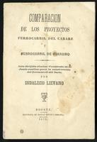 Comparación de los proyectos ferrocarril del Carare y ferrocarril del Guarumo (1875)