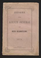 Informe del Ajente Jeneral de bienes desamortizados 1874 (1874)