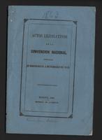 Actos lejislativos de la convención nacional instalada en Rionegro, el 4 de Febrero de 1863 (1863)