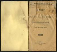 Pasto y las demás provincias del sur de Colombia. Sus relaciones políticas y comerciales con el Ecuador (1896)