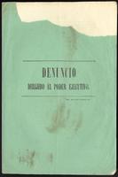 Denuncio  dirijido al poder ejecutivo (1855)