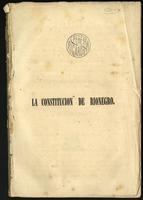 Juicio sobre la Constitución de 8 de Mayo de 1863 espedida en Rionegro (1863)