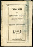 Esposición del Secretario Jeneral del Poder Ejecutivo del Estado de Boyacá (1866)