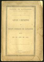 Leyes del Estado S. de Santander espedidas en los años de 1860, 1861 i 1862 (1863)
