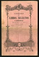 Catálogo de libros selectos y estampas, 1851 (1851)