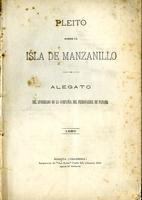 Pleito sobre la isla de Manzanillo. Alegato del apoderado de la Compañía del Ferrocarril de Panamá (1890)