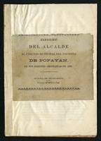 Informe del alcalde al Consejo Municipal del distrito de Popayán en sus sesiones ordinarias de 1888 (1888)