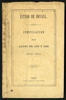 Compilación de leyes de 1882 y 1883. Edición oficial (1884)