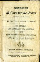 Devoción al Corazón de Jesús. Compuesta por un devoto (1841)