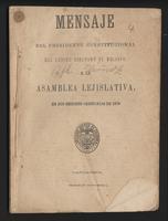 Mensaje del Presidente Constitucional del Estado Soberano de Bolívar a la Asamblea Lejislativa en sus sesiones ordinarias de 1879 (1879)