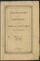 El convenio de marzo.  Esposición de los miembros de la mayoría Liberal del Congreso (1867)