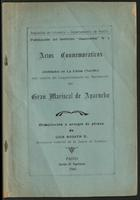 Actos Conmemorativos celebrados en La Unión (Nariño) con ocasión del Sesquicentenario del Nacimiento del Gran Mariscal de Ayacucho. (1945)