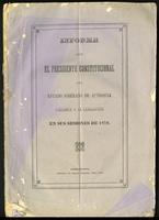 Informe que el presidente constitucional del Estado Soberano de Antioquia presenta a la lejislatura en sus sesiones de 1878 (1878)