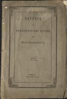 Defensa del Presidente del Estado de Magdalena, Señor Tomas E. Abello, en el juicio de responsabilidad a que ha sido llamado por la corte Suprema de la Unión (1867)