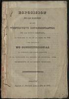 Esposición de las razones en que veintinueve representantes de la Nueva Granada, se fundaron el día 22 de marzo de 1836 para declarar NO CONSTITUCIONAL la conducta del Poder Ejecutivo en la negociación del Convenio con Venezuela, sobre repartimiento de los créditos colombianos (1836)