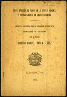 De los Efectos del Fumar en los Ninños y Jóvenes y principalmente en los Estudiantes... (1922)