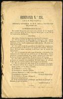 Ordenanza No 234 (1875)